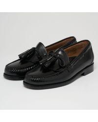 G.H.BASS - Layton Black Moc Kiltie Leather Loafer Shoes Ba11020 - Lyst