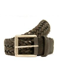 Anderson's Braided Leather Belt - Brown