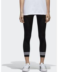 adidas Originals - Black 3-stripes Tights - Lyst