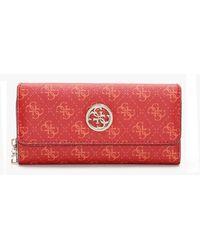 Guess Jensen Red Logo Organiser Clutch Wallet
