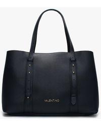 Valentino By Mario Valentino Alma Navy Shopper Bag - Blue