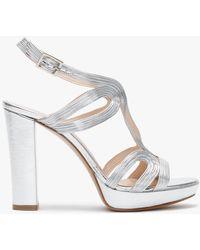 Daniel Anaca Silver Platform Sandals - Metallic