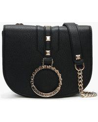 Versace Jeans Abakan Black Circular Logo Two Way Bag