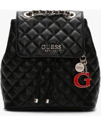 Guess Melise Black Quilted Backpack