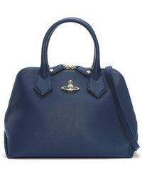 Vivienne Westwood - Balmoral Navy Leather Dome Tote Bag - Lyst