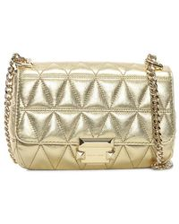 3e1a1621132 Michael Kors - Small Sloan Ii Old Gold Quilted Leather Cross-body Bag Co -
