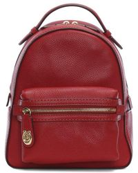COACH - Campus 23 Pebbled Red Leather Backpack - Lyst
