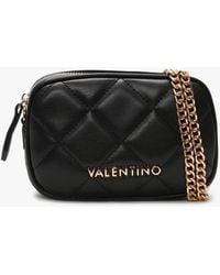 Valentino By Mario Valentino Ocarina Black Quilted Chain Strap Belt Bag