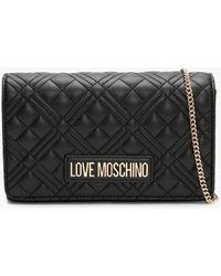 Love Moschino Jill Black Diamond Quilt Cross-body Bag