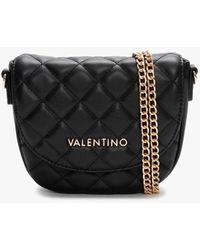Valentino By Mario Valentino Ocarina Black Quilted Shoulder Bag
