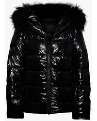 Oakwood Universal Black Shiny Nylon Padded Jacket