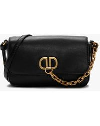 DKNY Small Black Leather Cross-body Bag