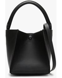 Sophie Hulme Nano Cube Black Leather Shoulder Bag