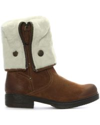 Shoon - Brown Suede Cuffed Calf Boots - Lyst