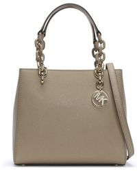 Michael Kors - Small Cynthia North South Truffle Leather Satchel Bag - Lyst