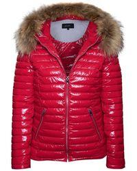 Oakwood Jolia Red Shiny Nylon Padded Jacket