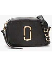 Marc Jacobs The Softshot 17 Black Leather Cross-body Bag