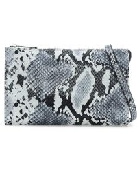 Armani Jeans - White & Black Reptile Cross-body Bag - Lyst