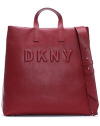 DKNY - Large Tilly Scarlet Leather Tote Bag - Lyst