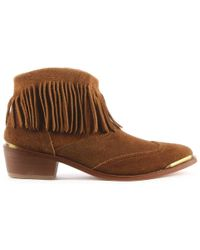 Hudson Jeans - Tala Tan Suede Fringe Western Ankle Boot - Lyst