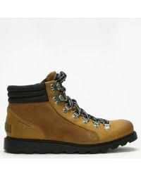 Sorel Ainsley Conquest Camel Brown & Black Suede Walking Boots