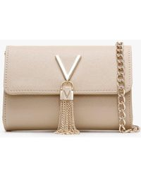 Valentino By Mario Valentino Divina Beige Saffaino Shoulder Bag - Natural