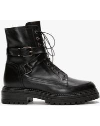 Daniel Nivello Black Leather Biker Boots
