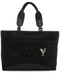 DKNY - Large Jadyn Black Nylon Tote Bag - Lyst