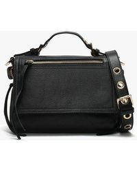 Daniel - Mula Black Pebbled Leather Slouchy Cross-body Bag - Lyst