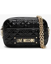 Love Moschino Quilted Black Cross-body Bag