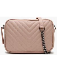 Daniel Delilah Nude Leather Quilted Cross-body Bag - Multicolor