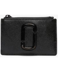 Marc Jacobs - Snapshot Dtm Black Leather Top Zip Wallet - Lyst