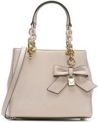 Michael Kors - Cynthia Soft Pink Leather Bow Satchel Bag - Lyst
