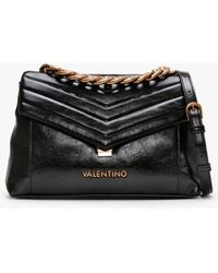 Valentino By Mario Valentino Large Grifone Cartella Black Cross-body Bag