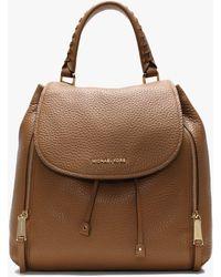 Michael Kors Large Viv Acorn Pebbled Leather Backpack - Brown