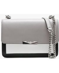 Flowers SM Chain Shoulder Bag Leather Optic White