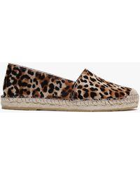 Daniel Inori Leopard Calf Hair Espadrilles - Brown