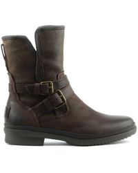 UGG Simmens Stout Leather Strap & Buckle Boot - Brown
