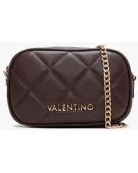Valentino By Mario Valentino Ocarina Brown Quilted Chain Strap Belt Bag