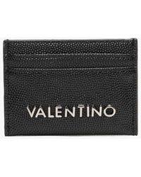 Valentino Garavani Divina Black Pebbled Card Case