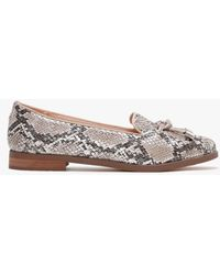 Moda In Pelle Elissy Nude Patent Leather Reptile Loafers - Multicolor