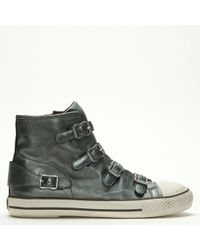 4045e191bfa8 Ash - Virgin Bis Moon Stone Leather Buckled High Top Trainers - Lyst