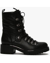 Daniel Plip Black Leather Biker Boots