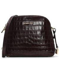 Michael Kors - Mercer Damson Moc Croc Leather Dome Messenger Bag - Lyst