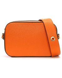 Daniel Meet Orange Leather Mini Grommet Cross-Body Bag