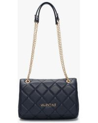 Valentino Ocarina Blue Quilted Satchel Bag