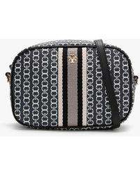 Tory Burch Mini Gemini Link Canvas Black Cross-body Bag