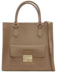 Daniel - Milting Large Taupe Leather Structured Tote Bag - Lyst