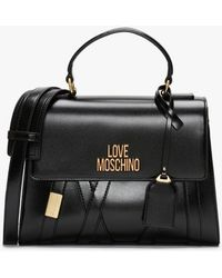 Love Moschino Stitch Black Satchel Bag