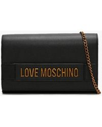 Love Moschino Square Chain Black Evening Bag